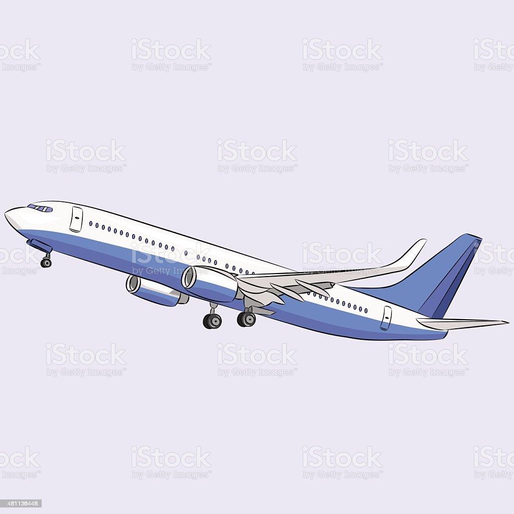 Vector. Aircraft. vector art illustration