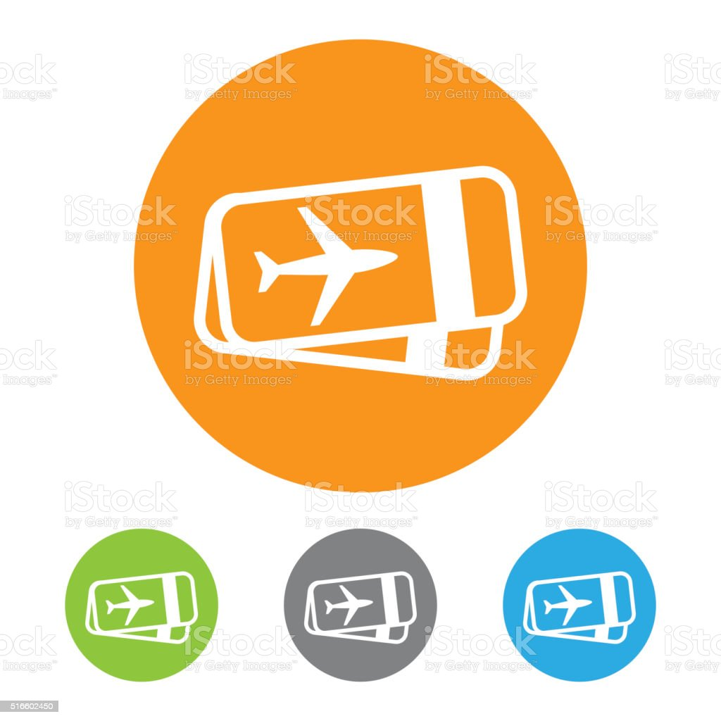 Vector Airline Ticket Icon vector art illustration