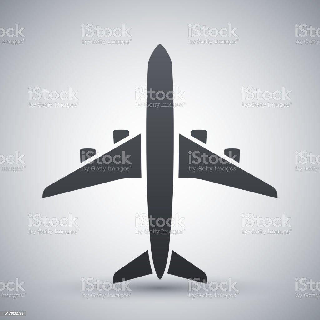 Vector airplane icon vector art illustration