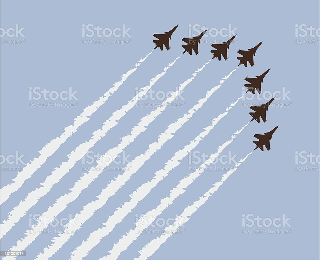 vector airplane show royalty-free stock vector art