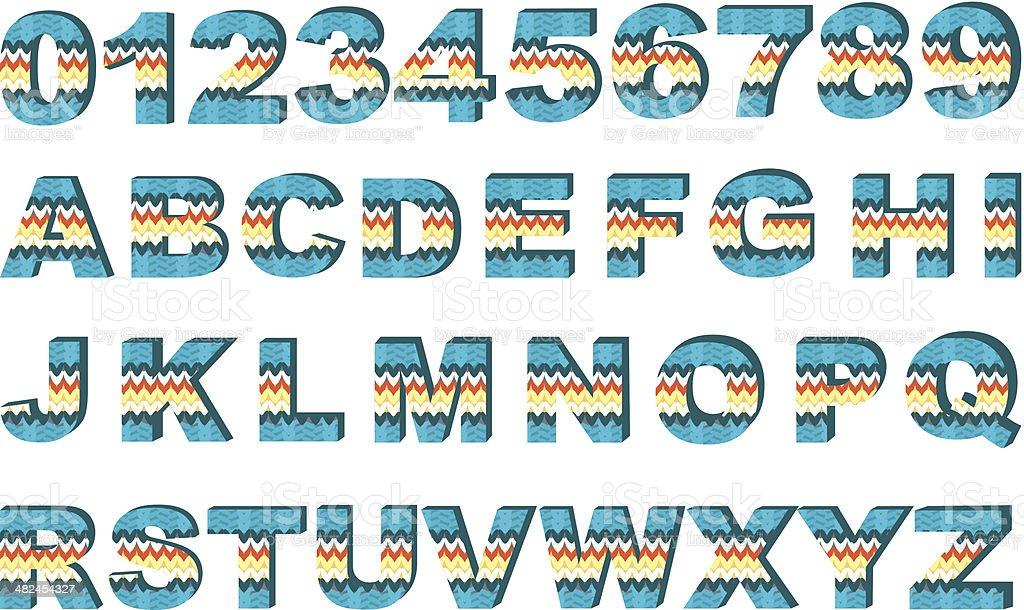 Vector alphabet vector art illustration