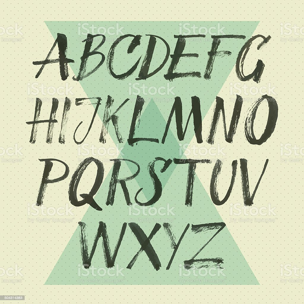 Vector alphabet. vector art illustration