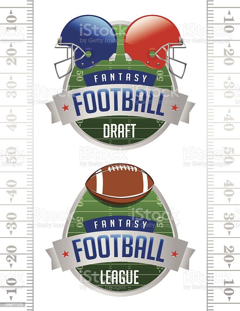 Vector American Fantasy Football Illustrations vector art illustration