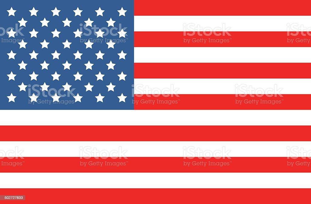vector american flag vector art illustration