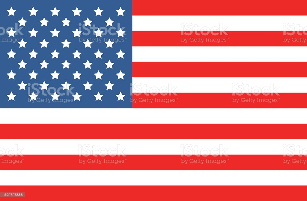 vector american flag vector art illustration