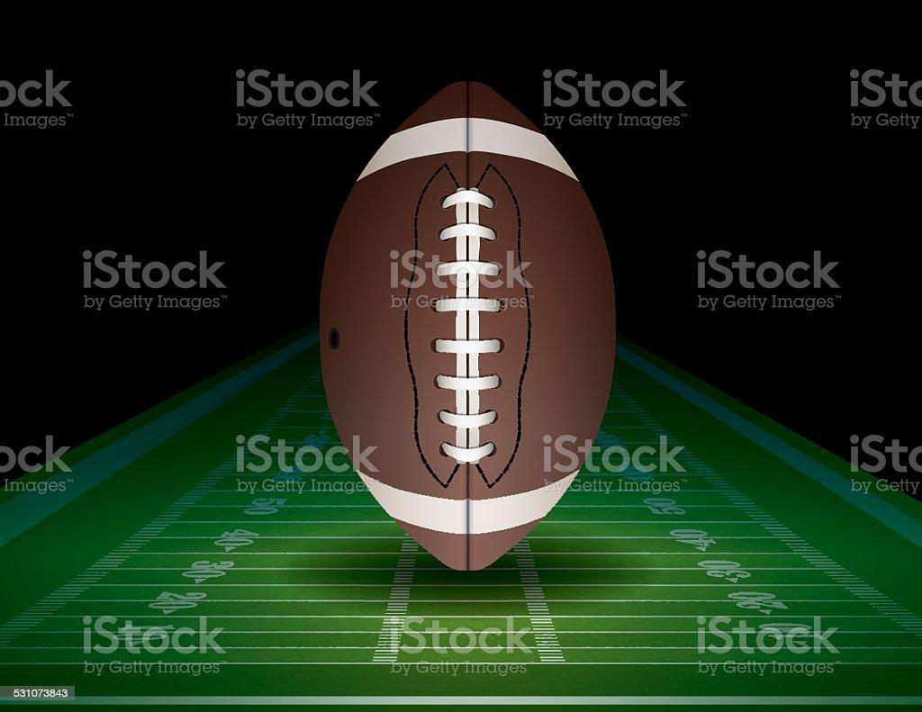 Vector American Football and Field Illustration vector art illustration