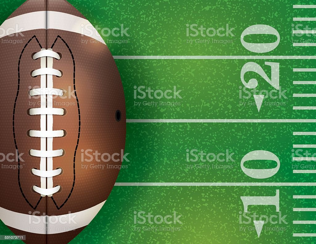 Vector American Football Ball and Field Illustration vector art illustration