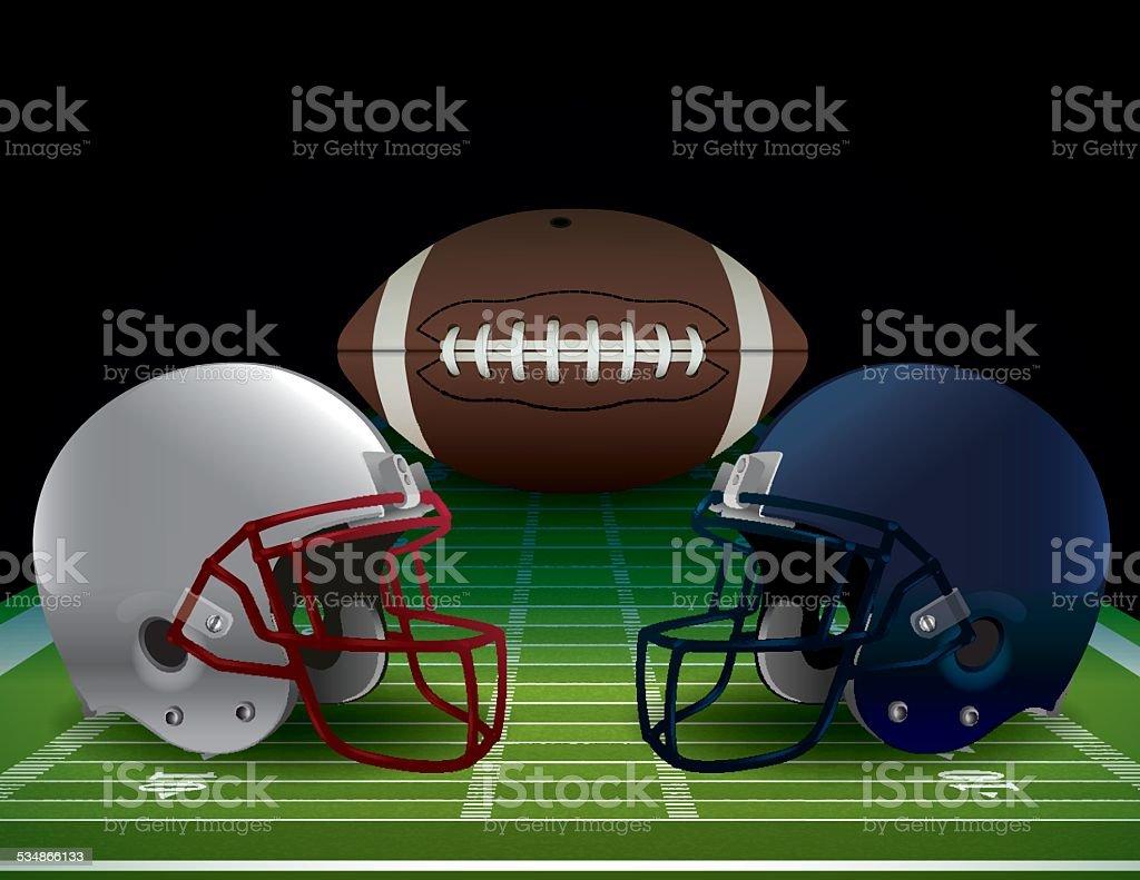 Vector American Football Bowl Game Illustration vector art illustration