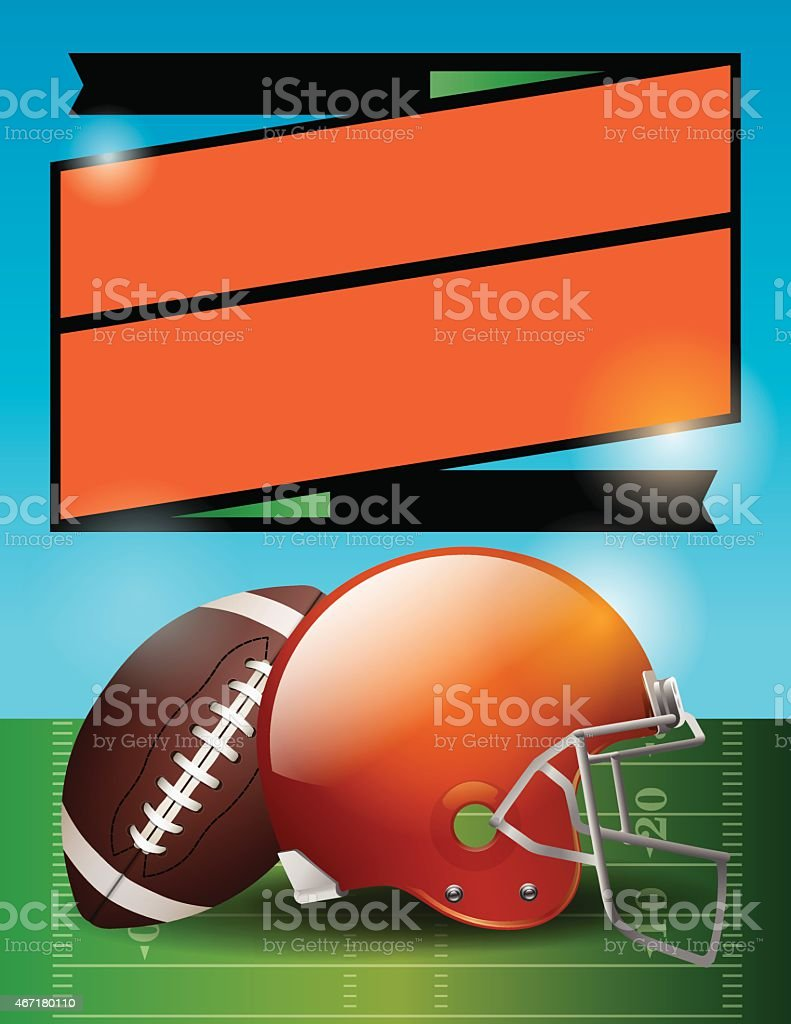 Vector American Football Bowl Game Party Illustration vector art illustration