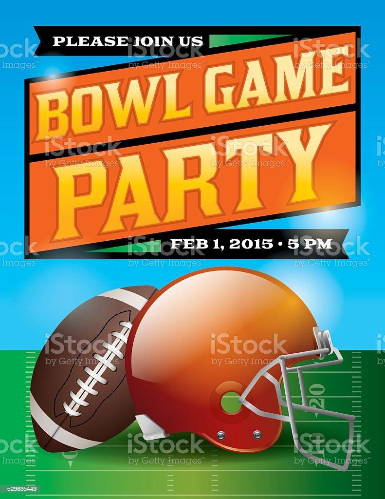 Vector American Football Bowl Game Party Illustration vector art illustration