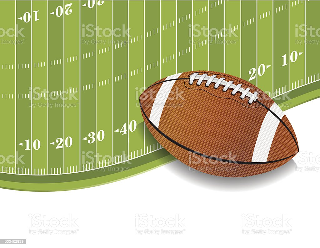 Vector American Football Field and Ball Background vector art illustration