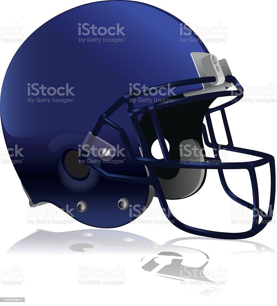 Vector American Football Helmet Isolated on White vector art illustration
