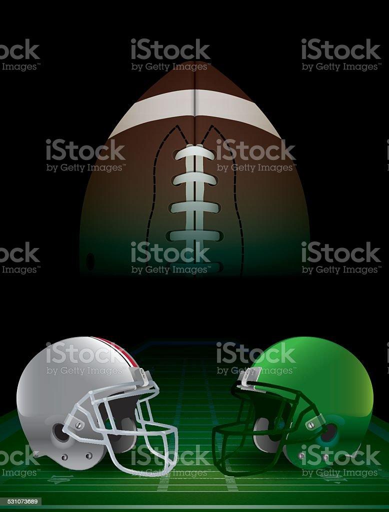 Vector American Football National Championship vector art illustration