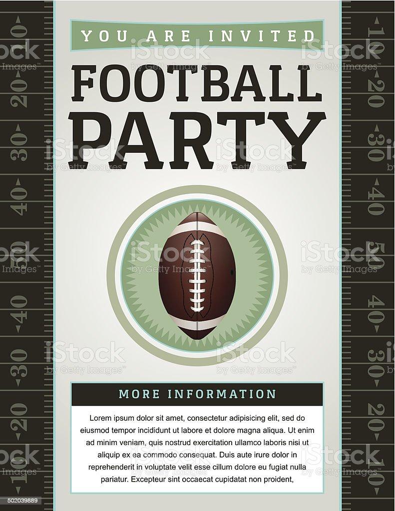 Vector American Football Party Flyer vector art illustration