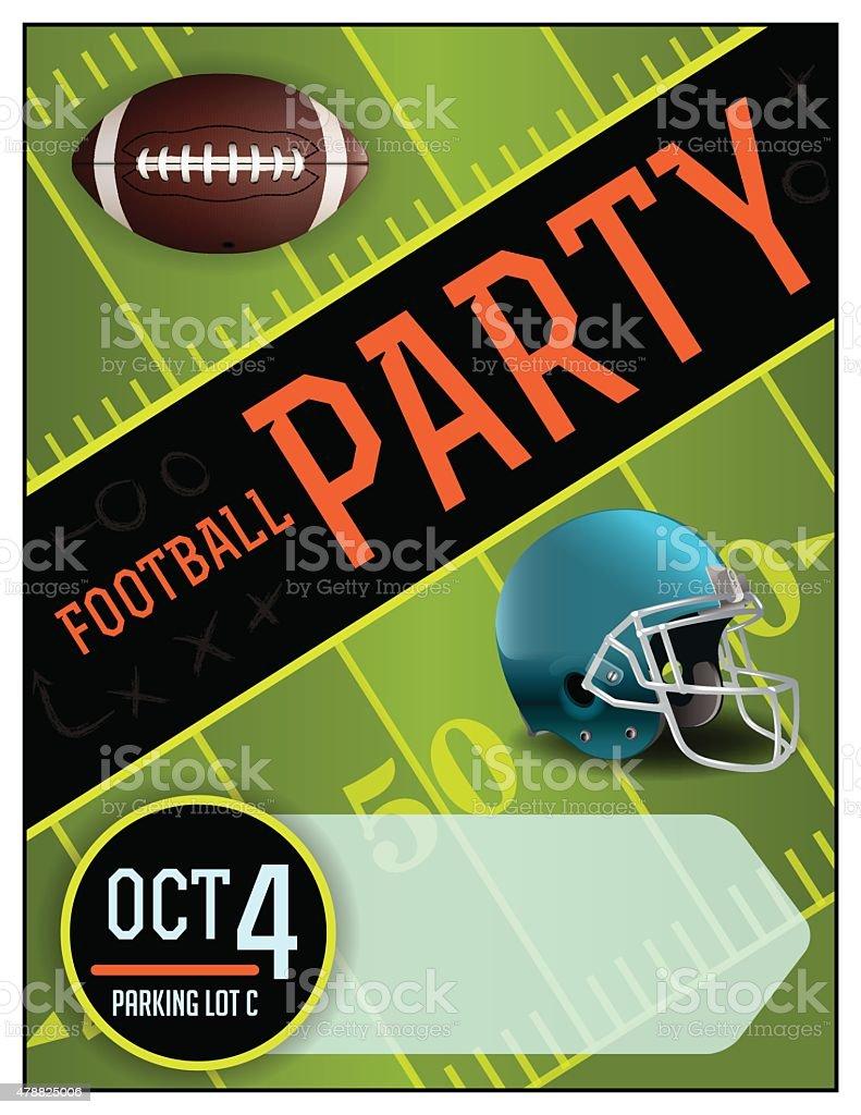 Vector American Football Party Poster Illustration vector art illustration