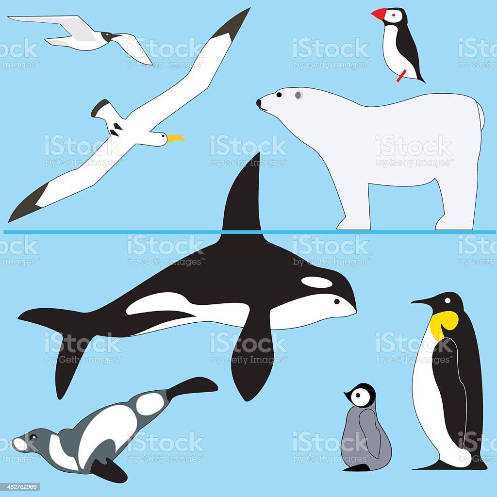 vector animals north vector art illustration