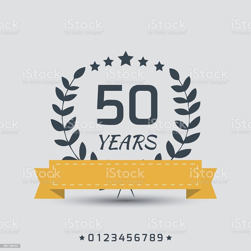 Vector anniversary sign. vector art illustration