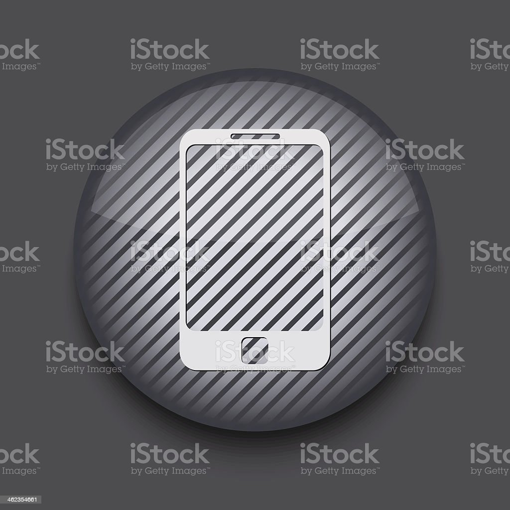 Vector app circle striped icon on gray background. Eps 10 royalty-free stock vector art