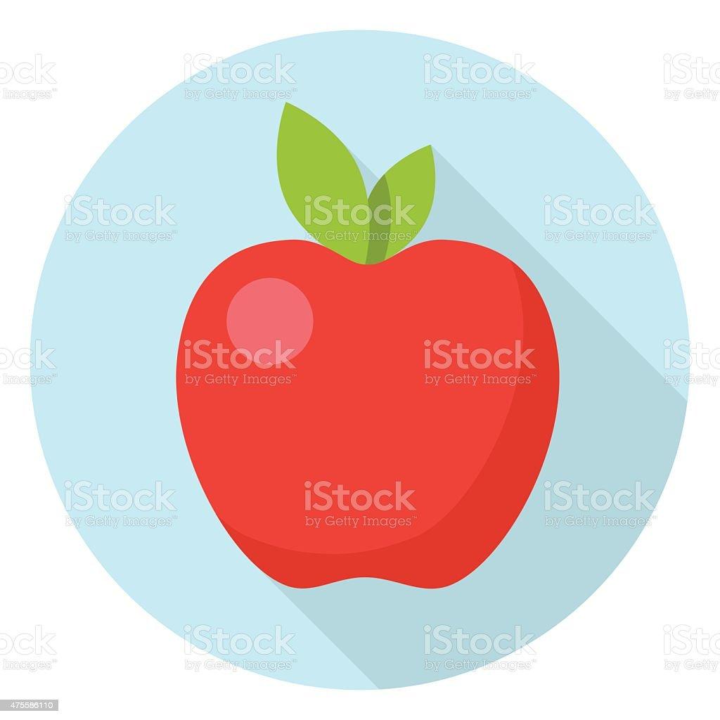 Vector Apple Icon vector art illustration