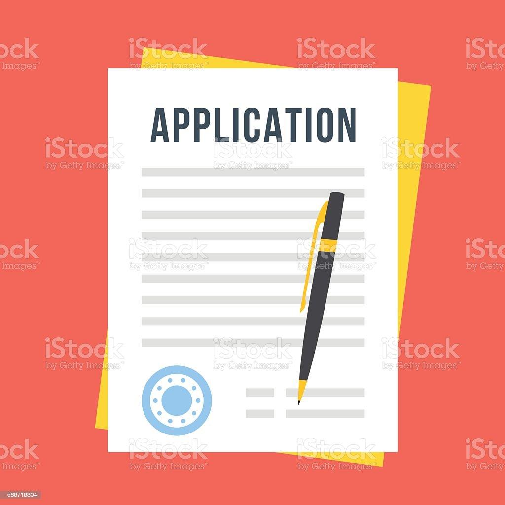 Vector application form vector art illustration