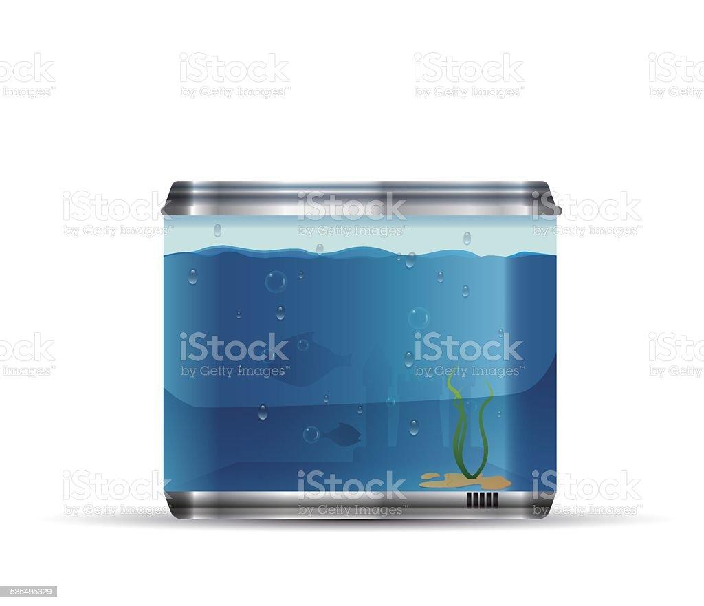 Vector aquarium vector art illustration