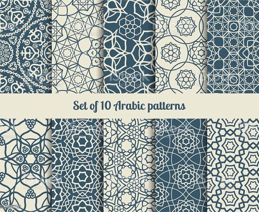 Vector arabic patterns vector art illustration