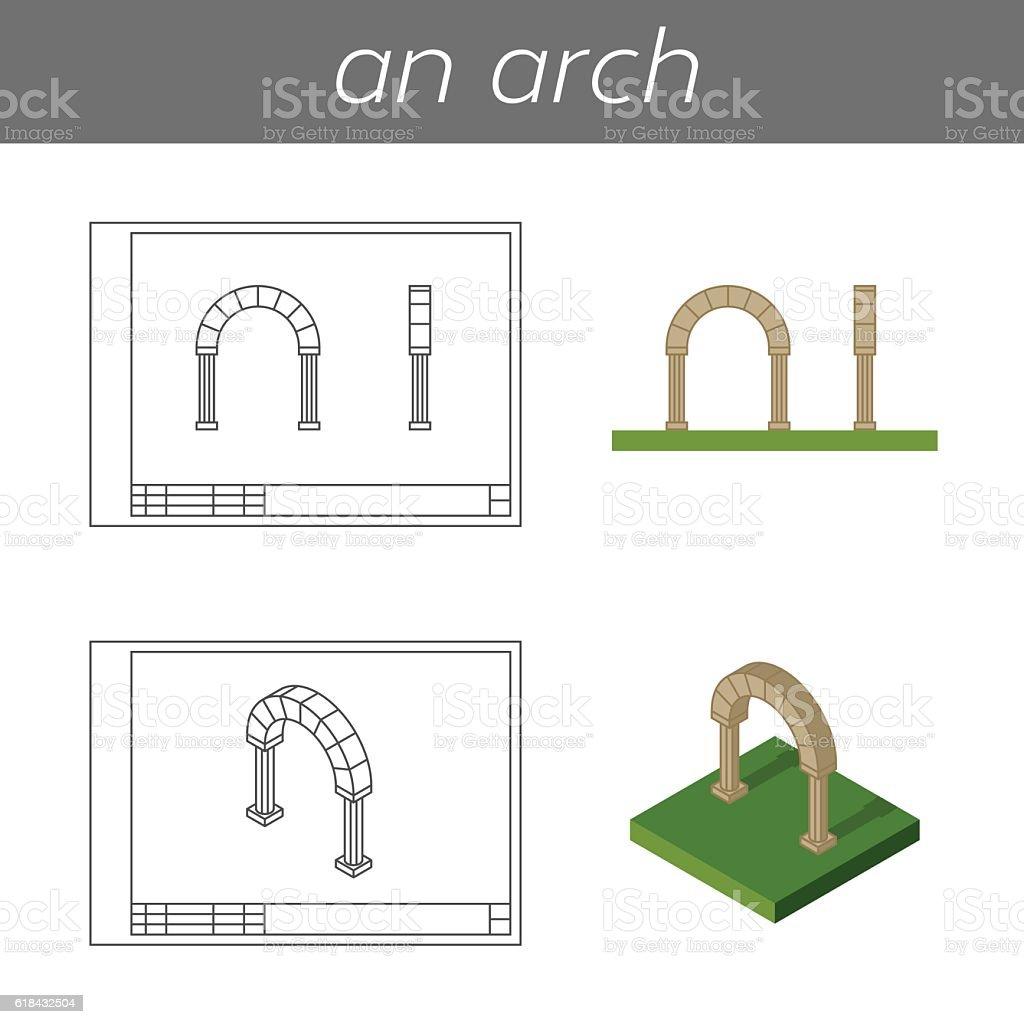 Vector arch illustration vector art illustration