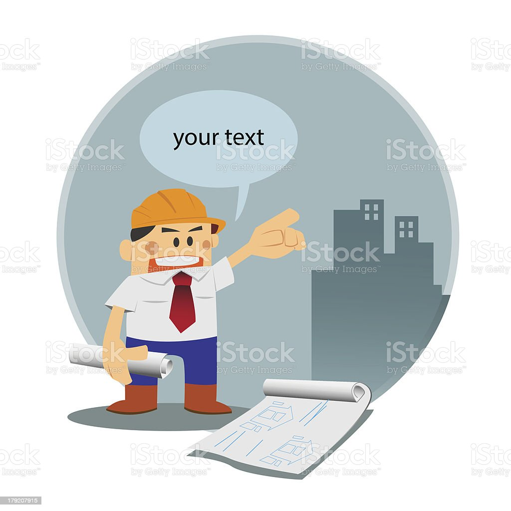 vector Architect in construction site royalty-free stock vector art