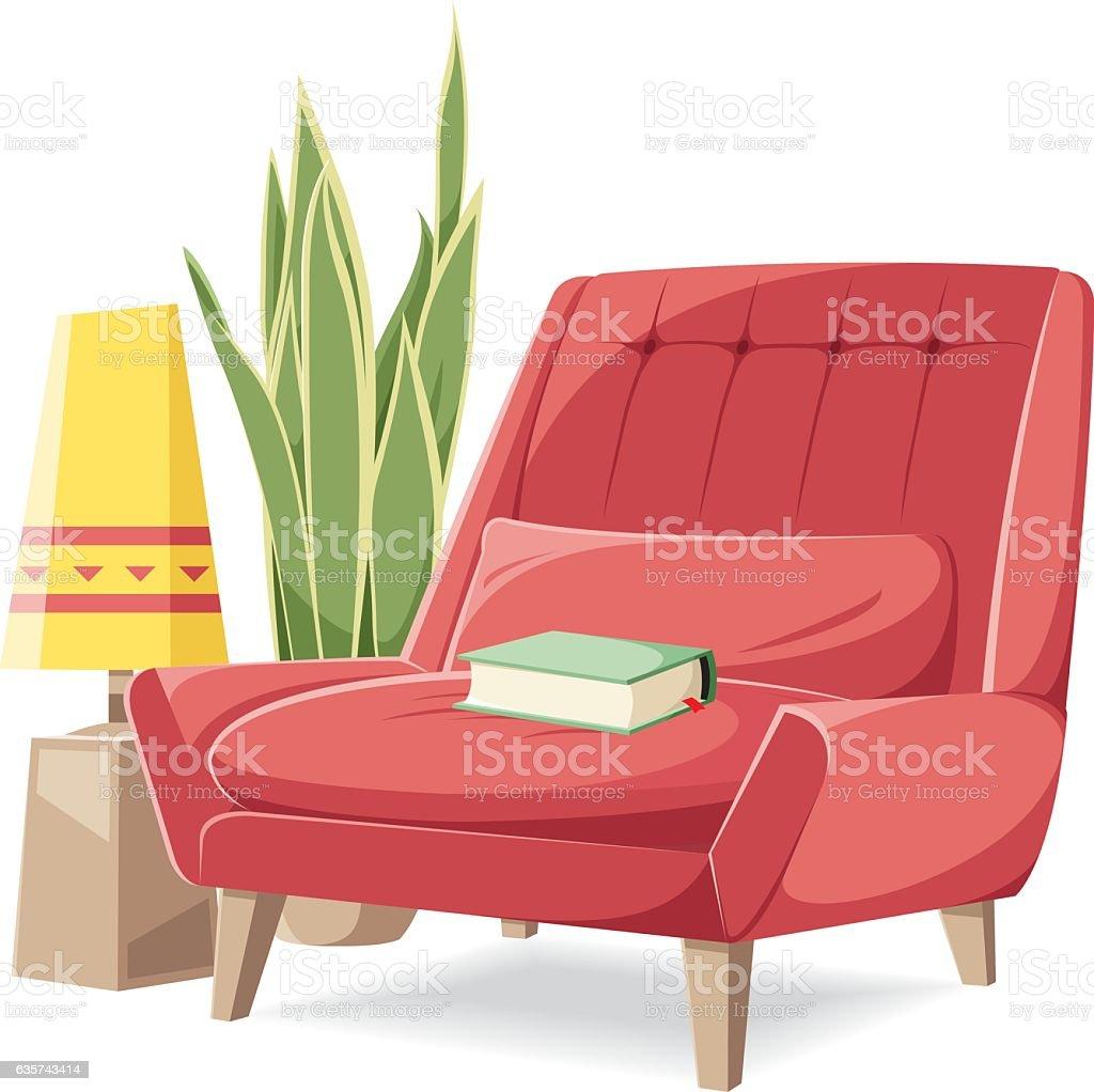 Vector armchair vector art illustration