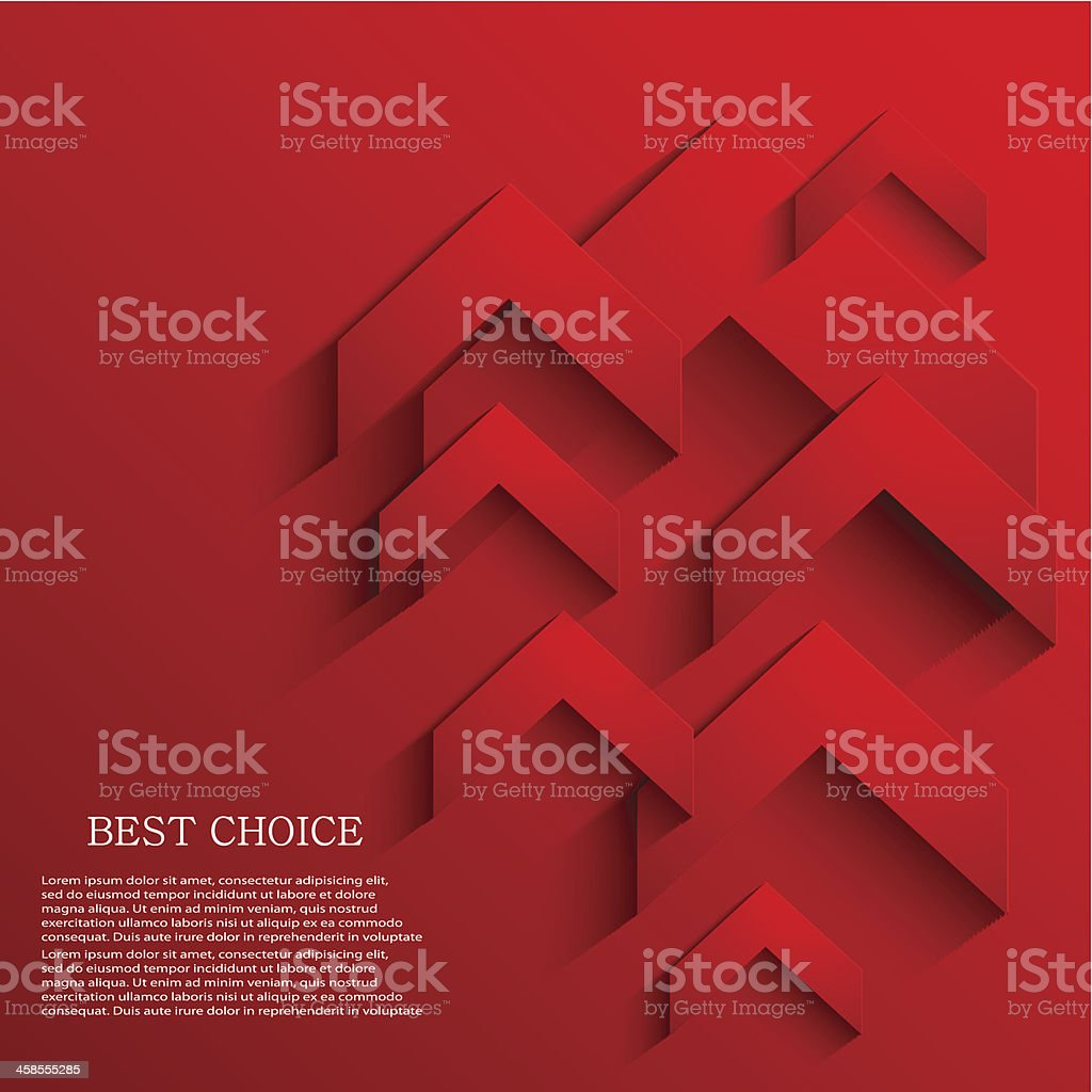 Vector arrow background. Eps10 vector art illustration