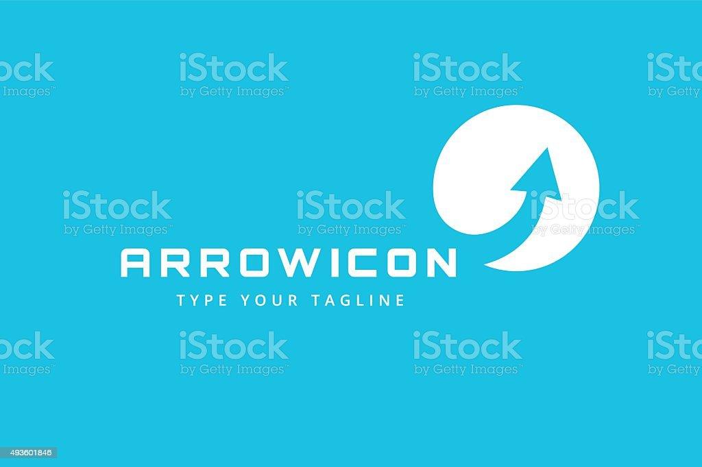 Vector arrow icon template vector art illustration