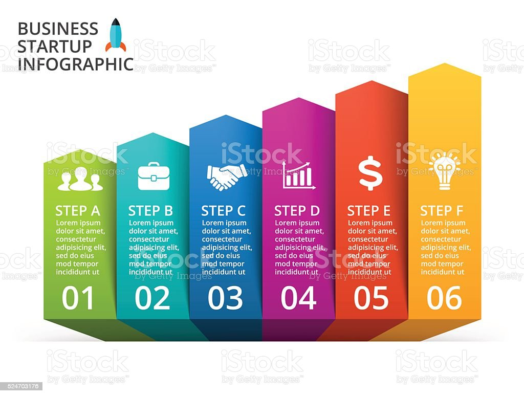 Vector arrows infographic, diagram, graph, presentation, chart. Business concept with vector art illustration