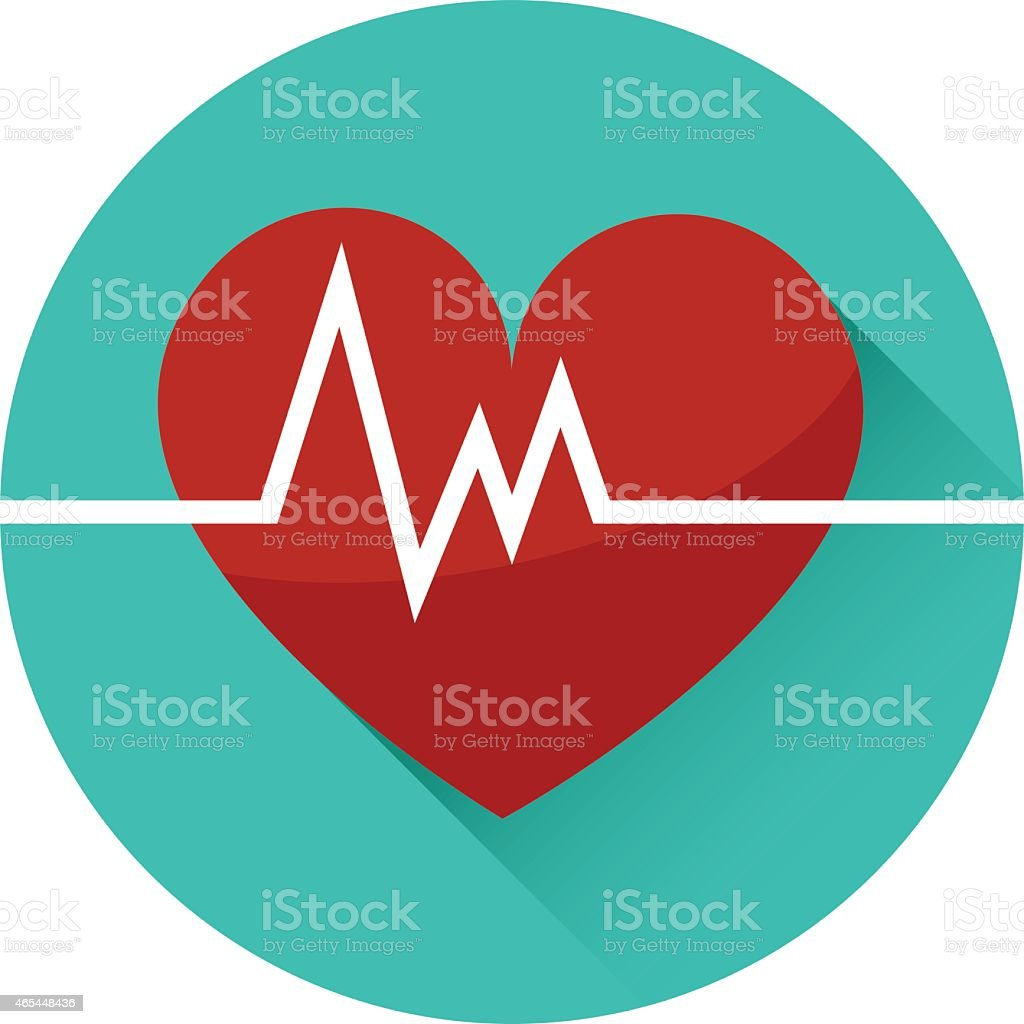 Vector Art of a Beating Heart Icon vector art illustration