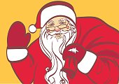 vector art of Santa Claus for any design. Eps 10