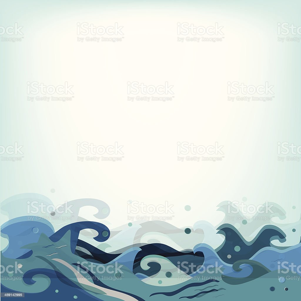 Vector Artistic Blue Waves Background royalty-free stock vector art
