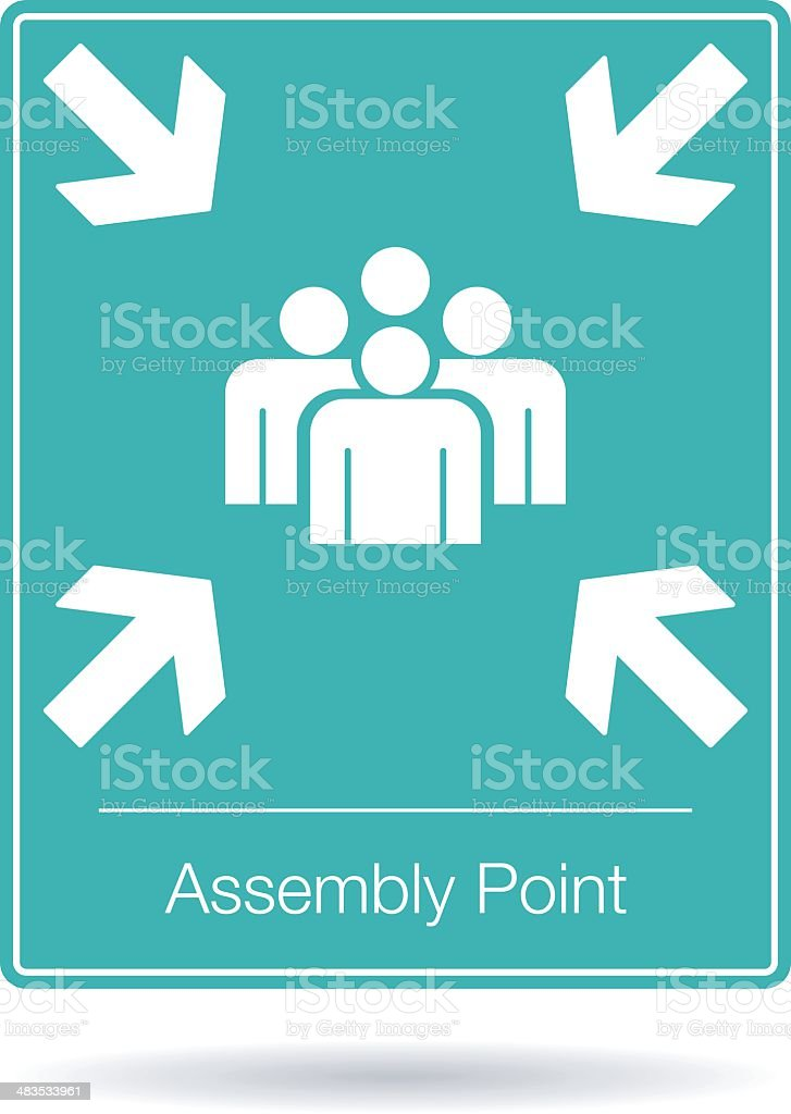 vector assembly point sign royalty-free stock vector art