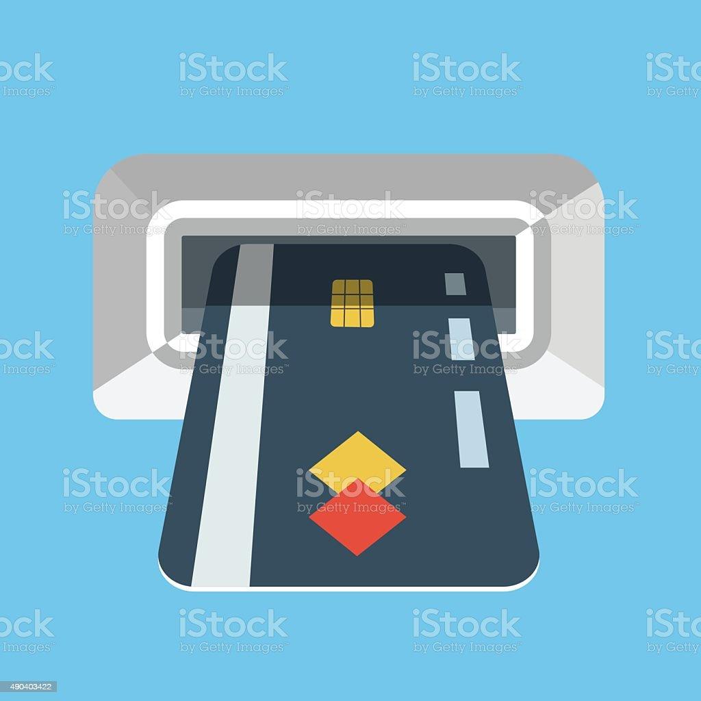 Vector atm machine icon vector art illustration
