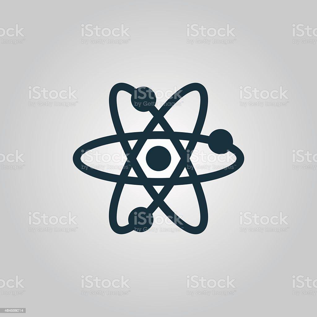 Vector atom icon vector art illustration