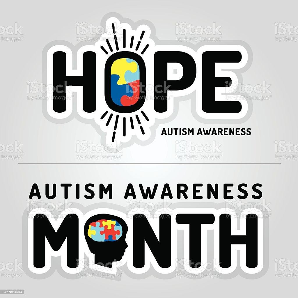 Vector Autism Awareness Graphics Illustration vector art illustration