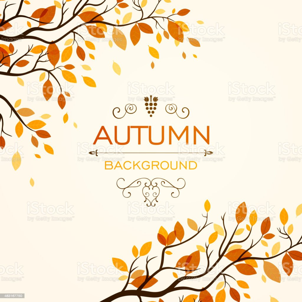 Vector Autumn Design vector art illustration