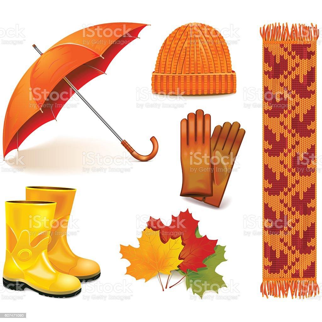 Vector Autumn Icons vector art illustration