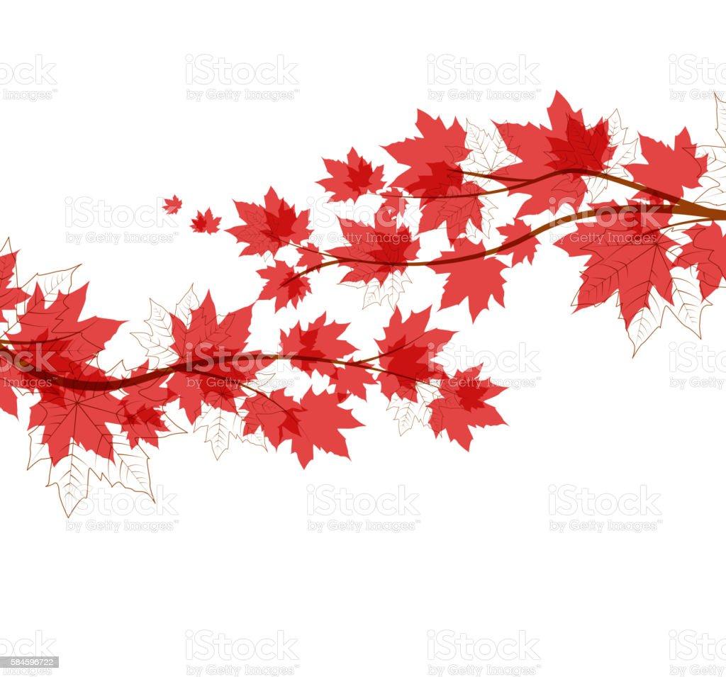 Vector autumn leaves vector art illustration