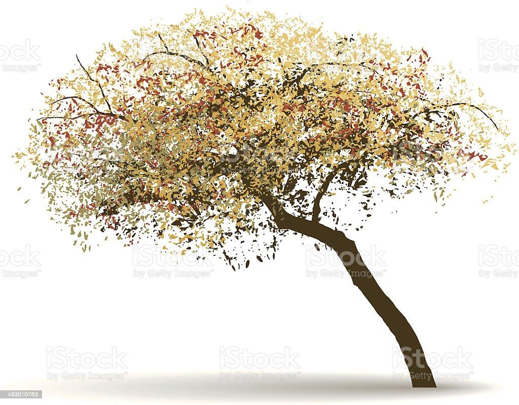 vector autumn tree background vector art illustration