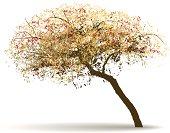 vector autumn tree background