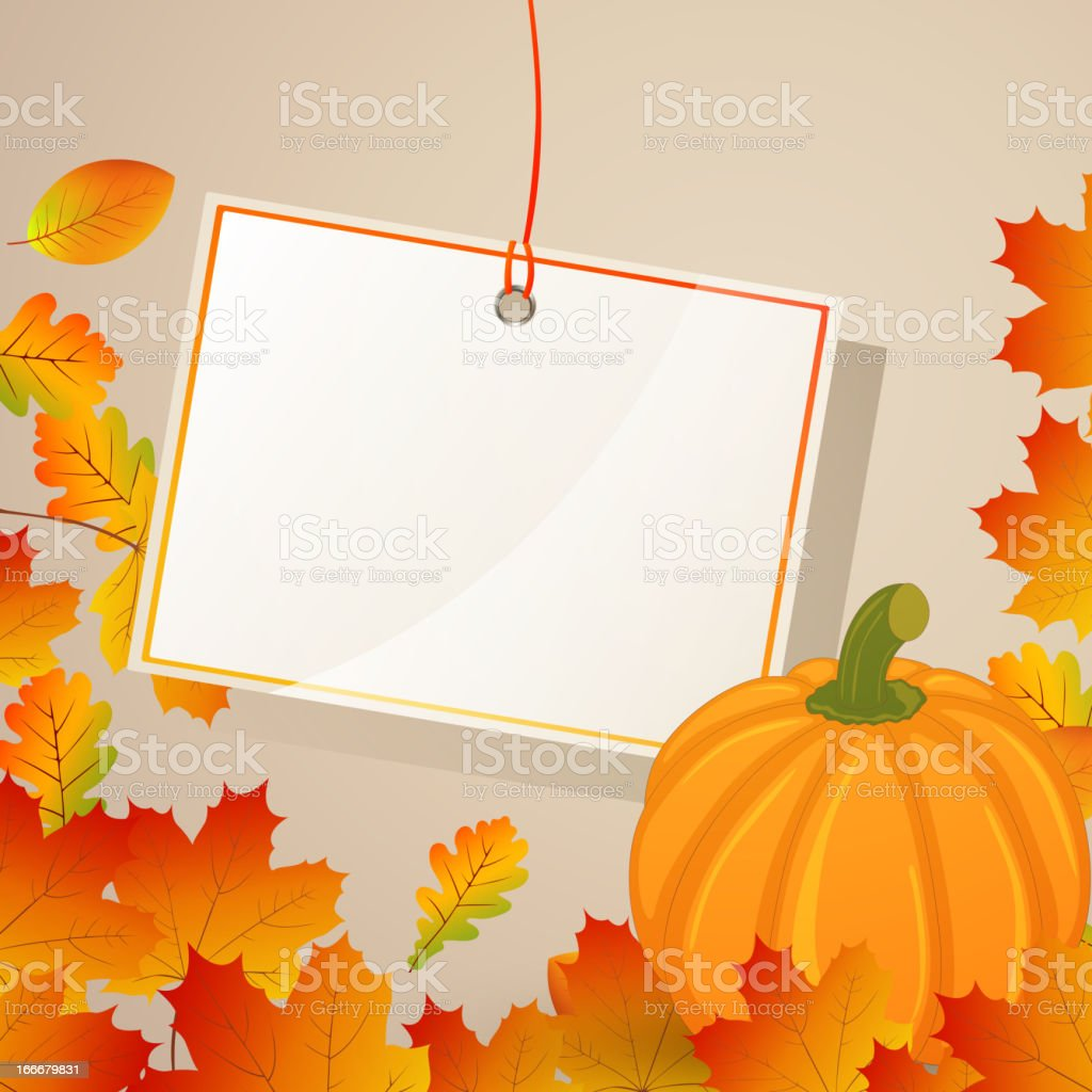 Vector Autumnal Background royalty-free stock vector art