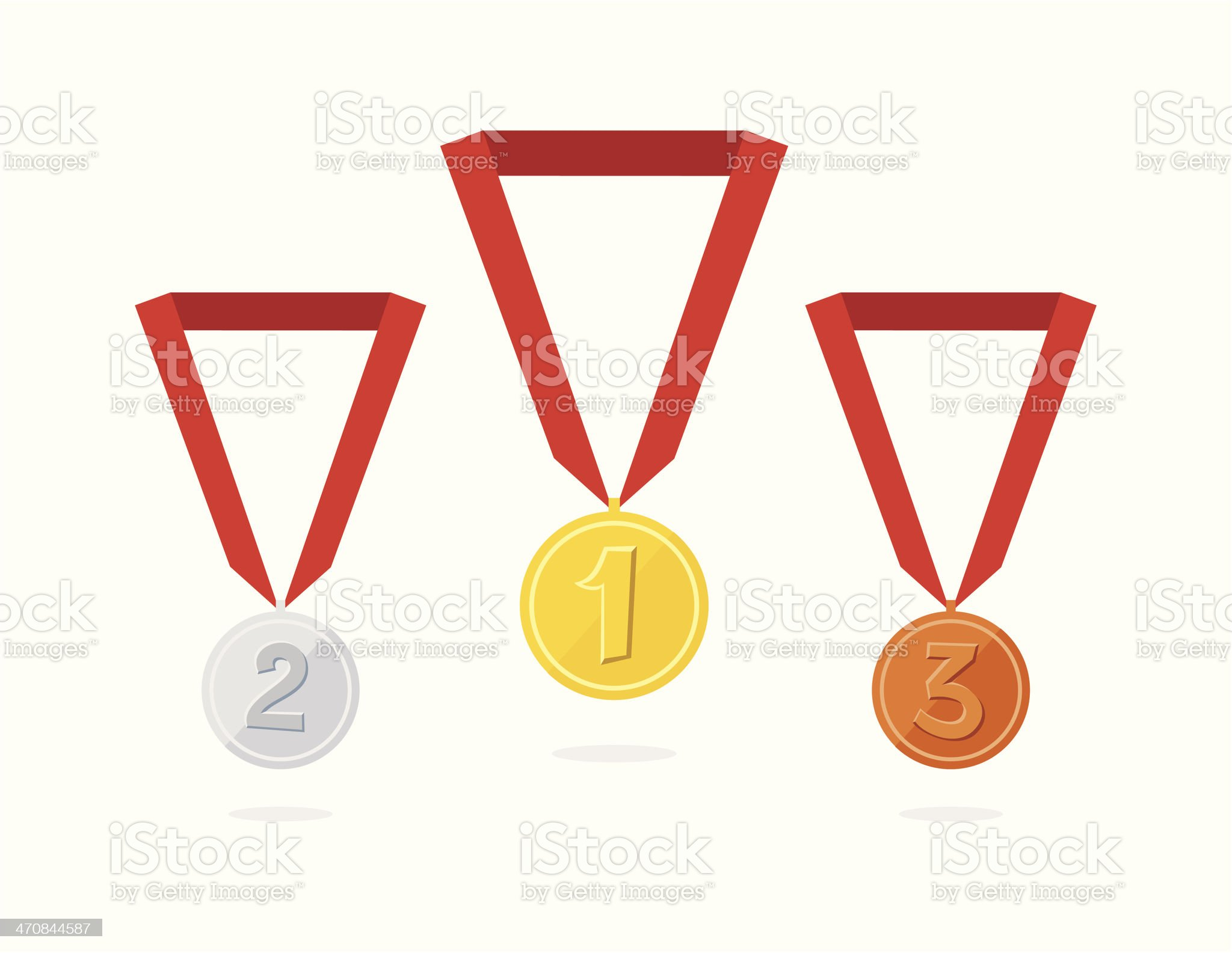 Vector Award Medals Set isolated on white royalty-free stock vector art