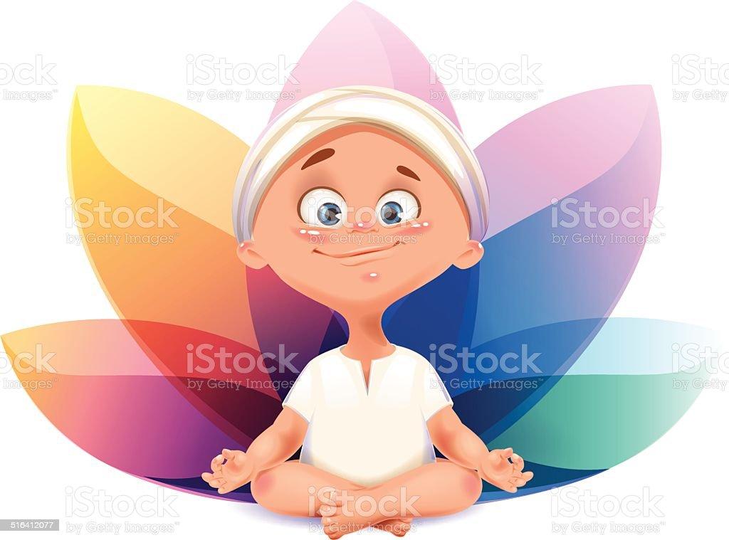 Vector baby yogi illustration vector art illustration