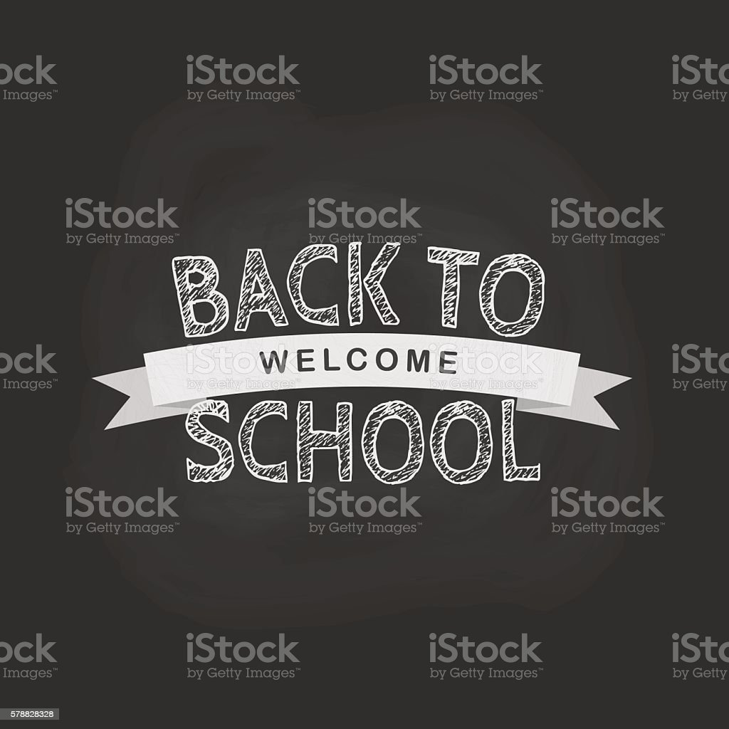 Vector back to school concept in flat style. vector art illustration