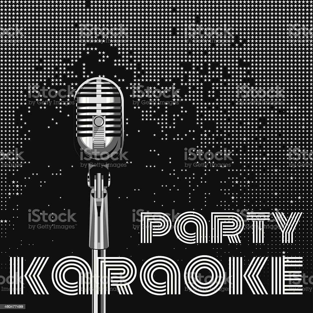 vector background for karaoke party royalty-free stock vector art