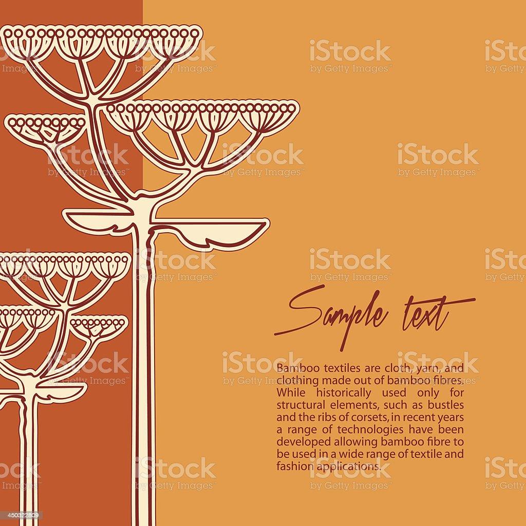 Fundo de vetor de flor de erva-doce local vetor e ilustração royalty-free royalty-free